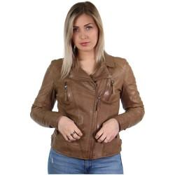 Vêtements Femme Blousons Oakwood Blouson style perfecto  Camera en cuir ref_ marron