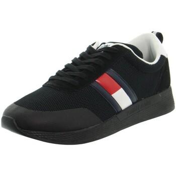 Chaussures Homme Baskets basses Tommy Hilfiger Baskets  ref_48618 Noir Noir