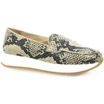 Chaussures Femme Mocassins So Send Boots cuir python Beige