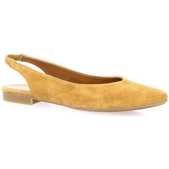 Chaussures Femme Ballerines / babies Reqin's Ballerines cuir velours Camel