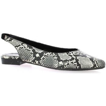 Chaussures Femme Ballerines / babies Reqin's Ballerines python  / Blanc/noir
