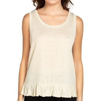 Vêtements Femme Tops / Blouses Deeluxe T-Shirt EURYDICE Ivory