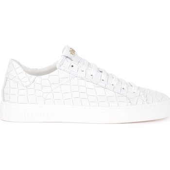 Chaussures Homme Baskets basses Hide&jack Baskets Tuscany Croco cuir blanc pour hommes Blanc