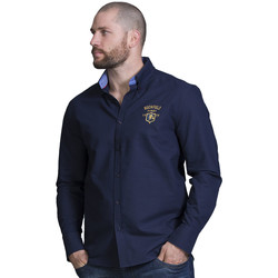Vêtements Homme Chemises manches longues Ruckfield Chemise homme bleu rugby Bleu