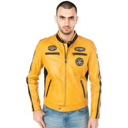 Vêtements Homme Vestes en cuir / synthétiques Daytona GALIANO SHEEP ATLAS VEG SOLANO YELLOW Jaune