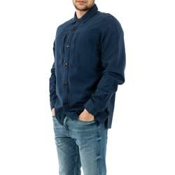 Vêtements Homme Chemises manches longues Barbour mos0090 bl54 indigo bleu