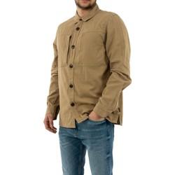 Vêtements Homme Chemises manches longues Barbour mos0090 st51 stone beige