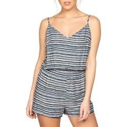 Vêtements Femme Combinaisons / Salopettes Deeluxe Combinaison AGAYA Print Blue Wave