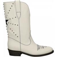Chaussures Femme Bottes ville Via Roma 15 TEXANO STELLA E PIRAMIDI bianco