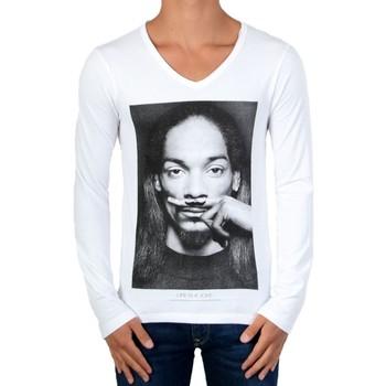 Vêtements Garçon T-shirts manches longues Eleven Paris Manches Longues Snoop LS Blanc