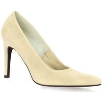 Chaussures Femme Escarpins Vidi Studio Nu pieds cuir velours Beige