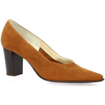 Chaussures Femme Escarpins Vidi Studio Escarpins cuir velours Cognac