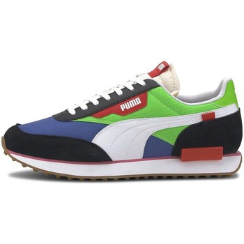 Chaussures Homme Baskets basses Puma FUTURE RIDER PLAY ON BLACK-FL GREEN multicolore
