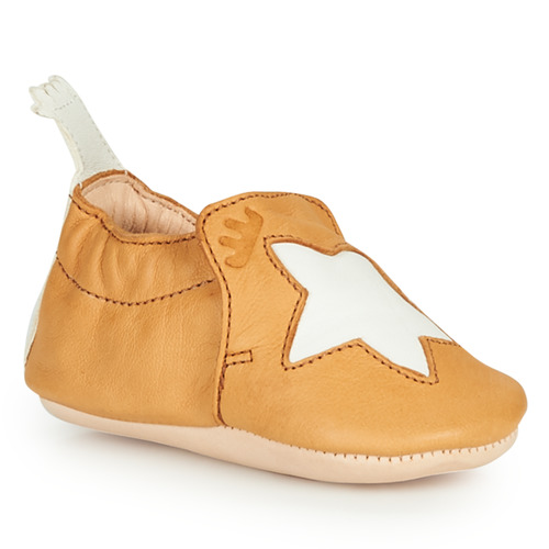Chaussures Enfant Chaussons Easy Peasy BLUMOO ETOILE Cognac