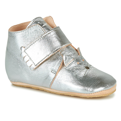 Chaussures Fille Chaussons Easy Peasy KINY CHAT Argenté