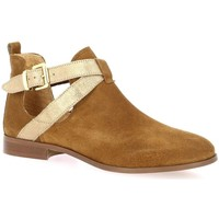 Chaussures Femme Boots We Do Boots cuir velours Cognac