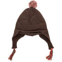 Accessoires textile Enfant Bonnets Neck And Neck Chapeau à pampilles et col Marron