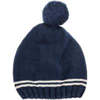 Accessoires textile Enfant Bonnets Neck And Neck Chapeau à pampilles et col Bleu