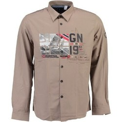 Vêtements Homme Chemises manches longues Geographical Norway Chemise homme Zalopark Beige