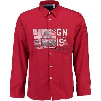 Vêtements Homme Chemises manches longues Geographical Norway Chemise homme Zalopark Rouge