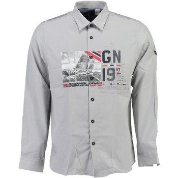 Vêtements Homme Chemises manches longues Geographical Norway Chemise homme Zalopark Blanc