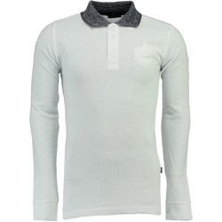 Vêtements Homme Polos manches longues Geographical Norway Polo Long Kniker pour homme Blanc
