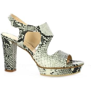 Chaussures Femme Sandales et Nu-pieds Benoite C Nu pieds python Gris