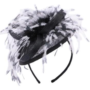 Accessoires textile Femme Chapeaux Léon Montane Coiffe Cérémonie Mae en sisal noir Noir