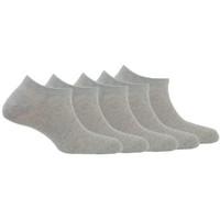 Accessoires textile Homme Chaussettes Kindy Lot de 5 paires de chaussettes invisibles en coton Gris moyen