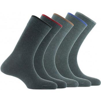 Accessoires textile Homme Chaussettes Kindy Lot de 5 paires de chaussettes en coton Gris foncé