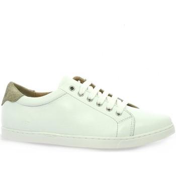 Chaussures Femme Baskets basses So Send Derby cuir  /dé Blanc/doré
