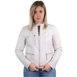 Vêtements Femme Blousons Oakwood Blouson style perfecto  Each en cuir ref_40522 Blanc Blanc