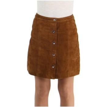 Vêtements Femme Jupes Daytona Jupe Rose Garden en cuir ref_48602 Cognac marron