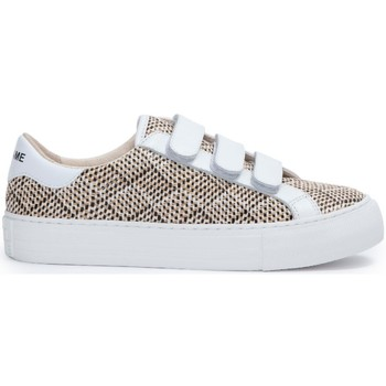 Chaussures Femme Baskets basses No Name Sneakers ARCADE STRAPS Straw/Nappa Beige