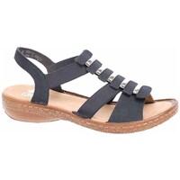 Chaussures Femme Sandales et Nu-pieds Rieker 6285014 Noir, Marron