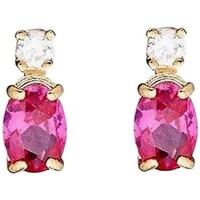 Montres & Bijoux Femme Boucles d'oreilles Mes-Bijoux.fr Boucles d'oreilles or jaune et oxydes de zircon Doré
