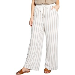 Vêtements Femme Pantalons fluides / Sarouels Deeluxe Pantalon VANILLE Yellow Stripes