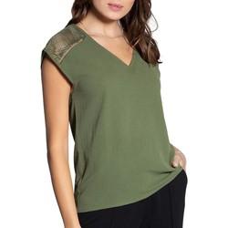 Vêtements Femme Débardeurs / T-shirts sans manche Deeluxe T-Shirt VAL Khaki