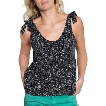 Vêtements Femme Débardeurs / T-shirts sans manche Deeluxe Débardeur TELMA Black / White