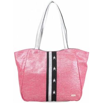 Sacs Femme Cabas / Sacs shopping Patrick Blanc Sac shopping  toile rose et argent rose