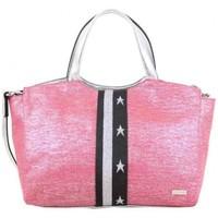 Sacs Femme Cabas / Sacs shopping Patrick Blanc Sac à main  toile rose et argent Multicolor