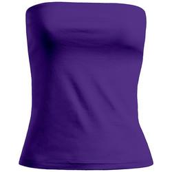 Vêtements Femme Débardeurs / T-shirts sans manche Promodoro Bustier tube sans bretelle Femmes promotion violet pansy