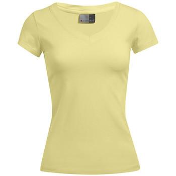 Vêtements Femme T-shirts manches courtes Promodoro T-shirt bien-être Femmes promotion citron