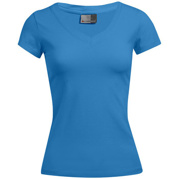 Vêtements Femme T-shirts manches courtes Promodoro T-shirt bien-être Femmes promotion turquoise