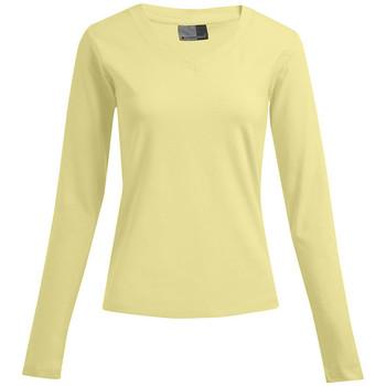 Vêtements Femme T-shirts manches longues Promodoro T-shirt manches longues bien-être Femmes promotion citron