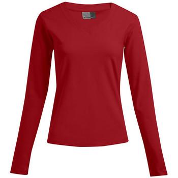Vêtements Femme T-shirts manches longues Promodoro T-shirt manches longues bien-être Femmes promotion rouge feu