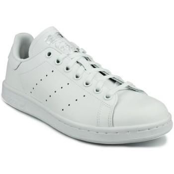 Chaussures Garçon Baskets basses adidas Originals Adidas Stan Smith J Blanc Blanc