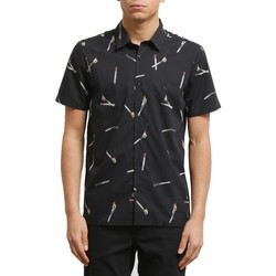 Vêtements Homme Chemises manches courtes Volcom Men's Wait SS Shirt Black