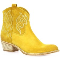 Chaussures Femme Boots Paoyama Boots cuir velours  ocre Ocre