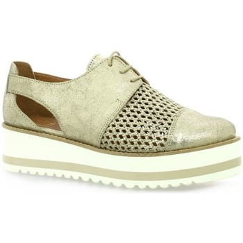 Chaussures Femme Derbies We Do Derby cuir laminé Platine